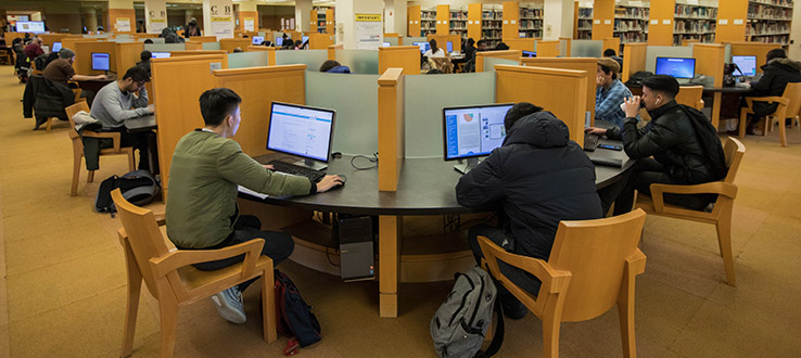 Students make tremendous use of the 400 computers in our library.
