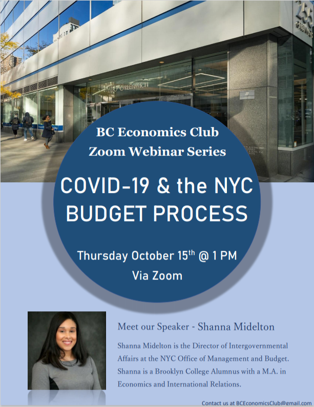 Zoom Webinar - COVID-19 and the NYC Budget Process with Shanna Midelton