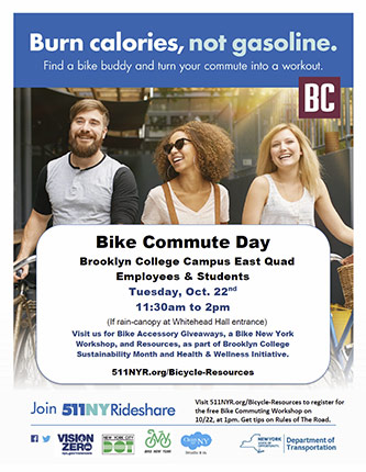 Poster for Bike Day, Tuesday, October 22, 2019