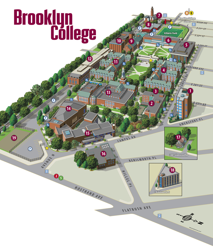 The Brooklyn College Campus Map