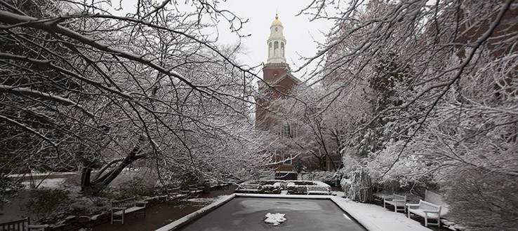 Our campus is beautiful in any season.