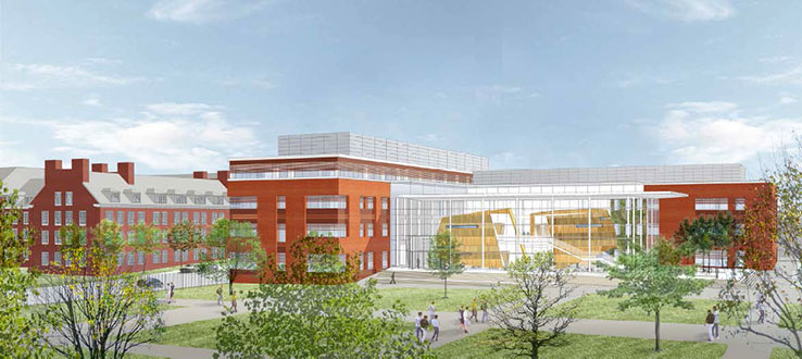 When completed, our new Roosevelt Science Center will be a state-of-the-art research center.