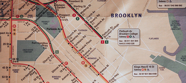 abundant convenient mass transit makes a trip to brooklyn college simple