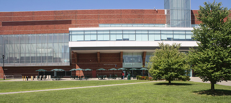 The West Quad Center was the first new building constructed on campus in 40 years.