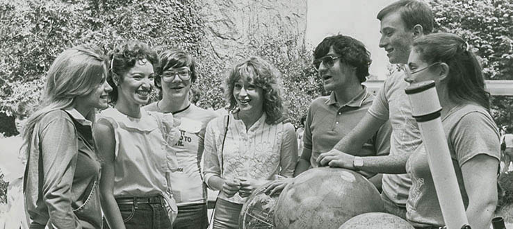 The Astronomy Club was popular back in the 1980s.