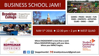 <p>Poster for <em>Business School Jam!</em></p>