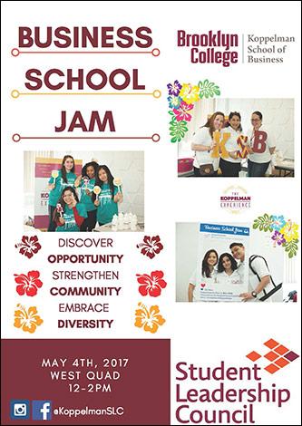 <p>Koppelman School of Business presents the Business School Jam</p>