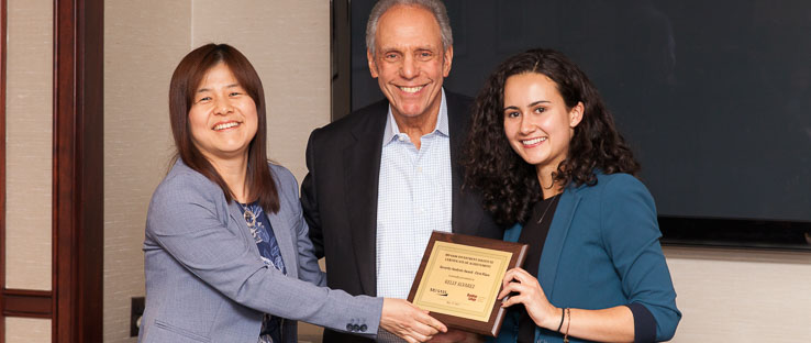 1<p>Brooklyn College junior Kelly Alvarez won the First Prize of the MDSII Security Analysis Awards on May 24, 2017 and received a $2,000 scholarship.</p>