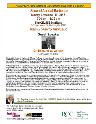 <p>The Herbert Kurz Business Consortium in Rockland County presents their Second Annual Barbeque</p>