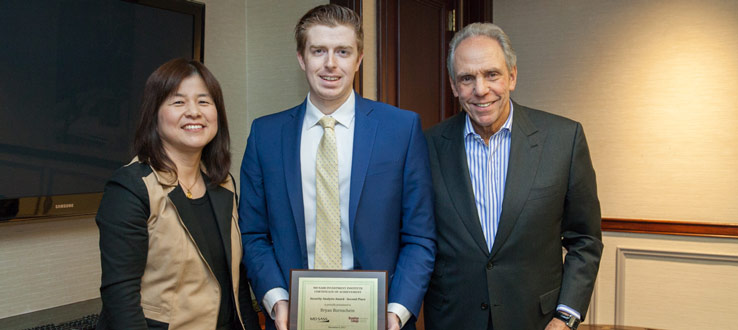Brooklyn College senior Brian Bornschein won the Second Prize of the MDSII Security Analysis Awards on December 6, 2017, and received a $1,000 scholarship.