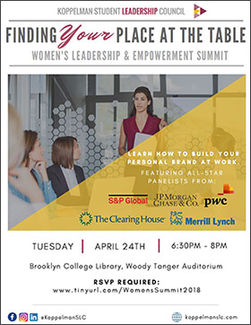 Finding Your Place at the Table - Women's Leadership and Empowerment Summit