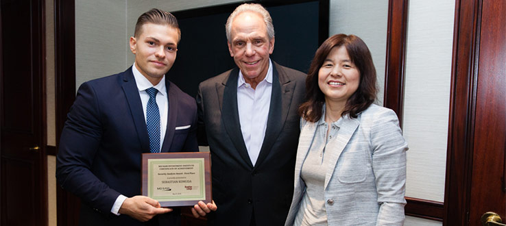 Brooklyn College senior Sebastian Komuda won the First Prize of the MDSII Security Analysis Awards on May 9, 2018, and received a $2,000 scholarship.