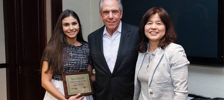 Brooklyn College senior Samra Feratovic won the Second Prize of the MDSII Security Analysis Awards on May 9, 2018, and received a $1,000 scholarship.