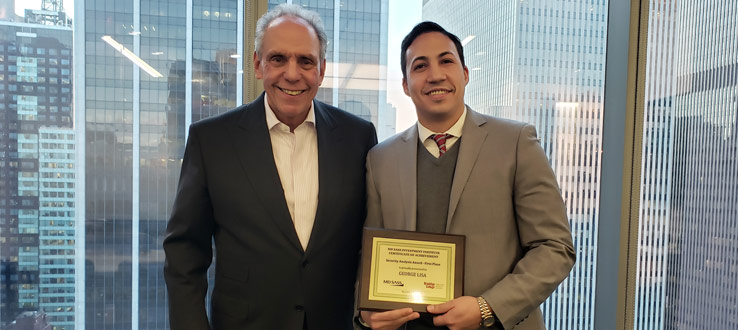 Brooklyn College senior George Lisa won the First Prize of the MDSII Security Analysis Awards on December 19, 2018, and received a $2,000 scholarship.