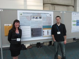 <p>Fellows Kimberly Handle and Adam Johnson at AAA Conference in San Diego in 2010.</p>