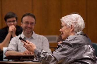 Pauline Oliveros at Brooklyn College, 2011.