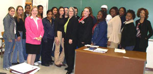Assemblywoman Helen E.Weinstein and students