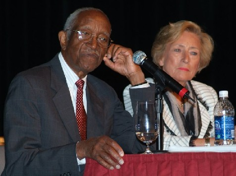 Professor Franklin and Professor Lenzer at the inaugural City University of New York Black Male Initiative Conference entitled 