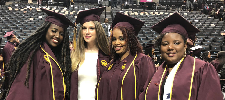 CHST Majors at their 2018 Commencement
