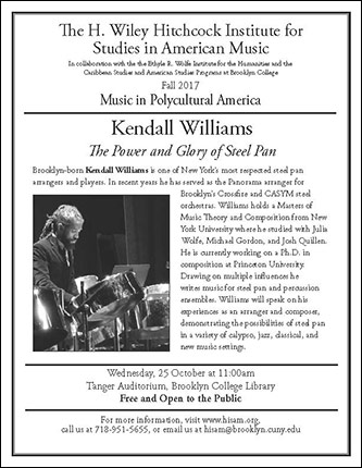 <p>Poster for Music in Polycultural America - <em>The Power and Glory of Steel Pan</em></p>