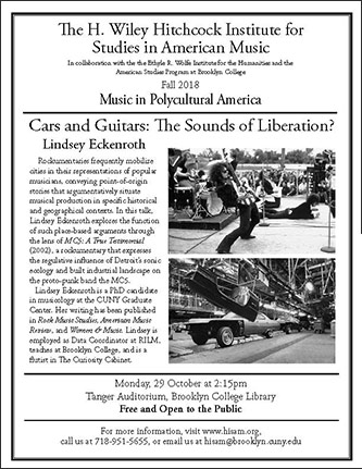 <p>Poster for <em>Cars and Guitars: The Sounds of Liberation?</em></p>