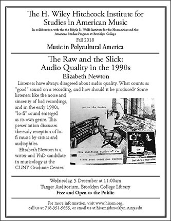 <p>Poster for <em>The Raw and the Slick: Audio Quality in the 1990s</em></p>