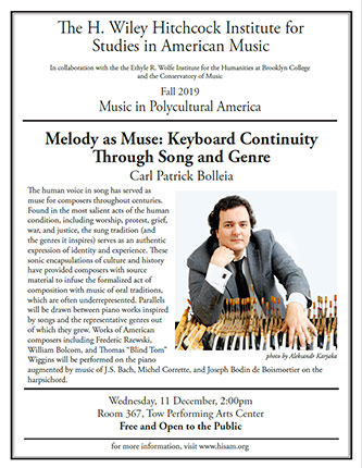 Poster for <em>Melody as Muse: Keyboard Continuity Through Song and Genre</em>
