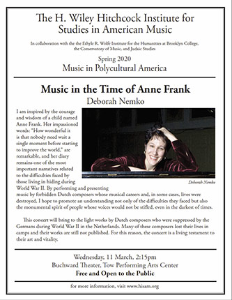 Poster for <em>Music in the Time of Anne Frank</em>