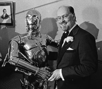 <p><em>Star Wars</em> Soundtrack Composer John Williams and C-3PO</p>