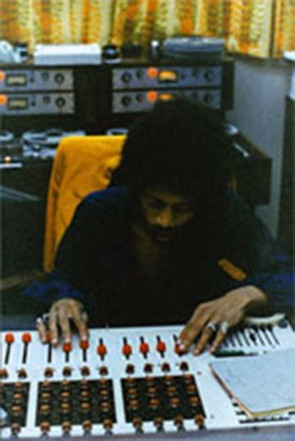 <p>Jimi Hendrix at The Record Plant, Photo courtesy of Eddie Kramer Archive &copy;</p>