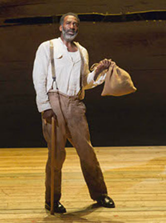 Norm Lewis as Porgy, Photo by Michael J. Lutch, courtesy of the American Repertory Theater