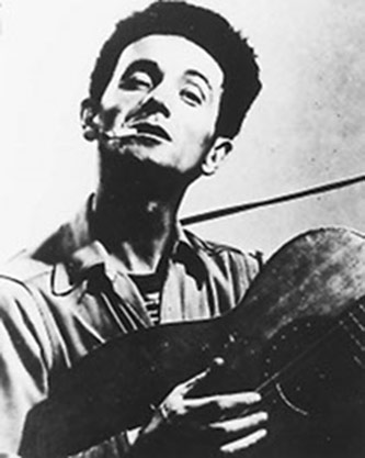 <p>Woody Guthrie, Courtesy of the The Woody Guthrie Foundation (<a href=