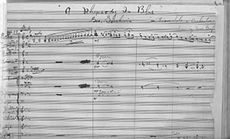 <p>Draft of <em>Rhapsody in Blue</em> by George Gershwin. Courtesy of the Library of Congress.</p>