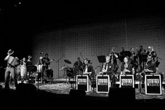 <p>Gregorio Uribe Big Band performs at BRIC House, Brooklyn, New York, 12 October 2013, Courtesy of Lilihouse Agency</p>