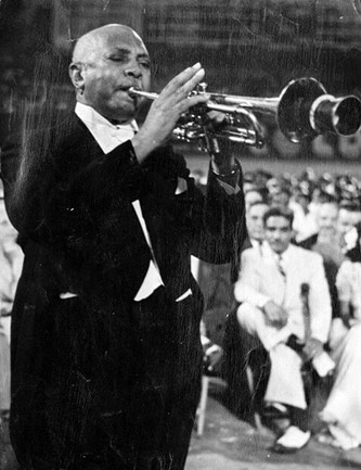 <p>W.C Handy at the American Negro Music Festival. Courtesy of <em>St. Louis Post-Dispatch.</em></p>