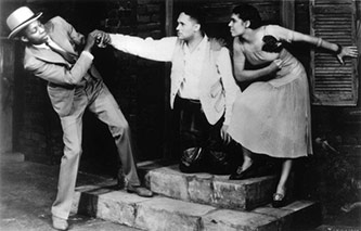 <p>John Bubbles, Todd Duncan, and Anne Brown in the original 1935 <em>Porgy and Bess</em>. Courtesy of the University of Michigan.</p>