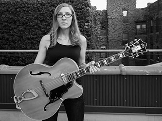 <p>Mary Halvorson. Photo by Peter Gannushkin</p>