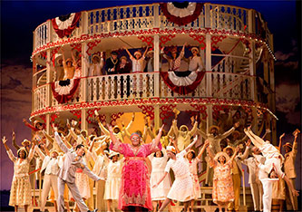 <p>Angela Ren&eacute;e Simpson as Queenie and the company of <em>Show Boat</em>. Photo by Scott Suchman</p>