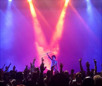 <p>Prince, curtain call following final concert performance Fox Theatre, Atlanta GA, 14 April 2016. Photo by Evan Carter; evancarterphotography.com</p>