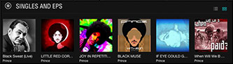 "<p>Image from Tidal digital music service of Prince singles released Nov. 2015–April 2016. Chronology right to left: ""When Will We B Paid"" Nov. 2015; ""If Eye Could Get Your Attention"" Nov. 2015; ""Black Muse"" Feb. 2016; ""Joy in Repetition"" Piano and Microphone tour, live from Sydney, Australia Feb. 2016; ""Little Red Corvette/Dirty Mind"" Piano and Microphone tour, live from Sydney, Australia, March 2016; ""Black Sweat"" Piano and Microphone tour, live at Fox Theatre, April 2016</p>"