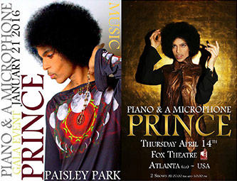 <p>Poster for Paisley Park Gala / Promotional poster for Fox Theatre Concert</p>