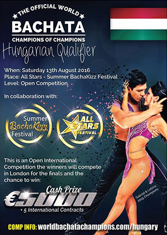 <p>Figure 1: Poster from bachata competition in Hungary</p>