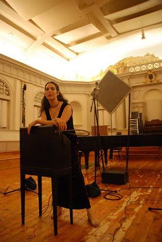 Recording with Clara Rockmore's theremin, August 2010
