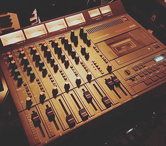 Milk Dee's Tascam 246 four-track recorder, photo courtesy of Milk Dee [Kirk Robinson]