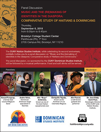 <p>Panel Discussion - Music and the (Re)making of Identities in the Diaspora: Comparative Study of Haitians and Dominicans</p>