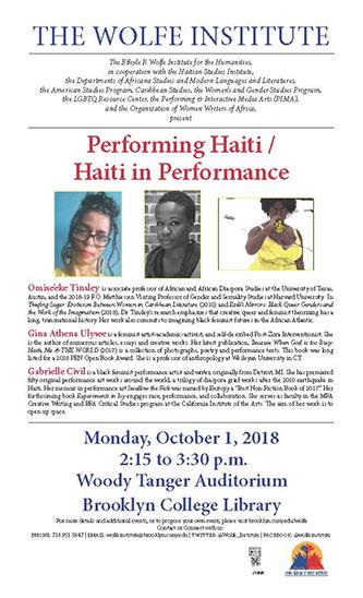 <p>Performing Haiti / Haiti in Performance poster</p>
