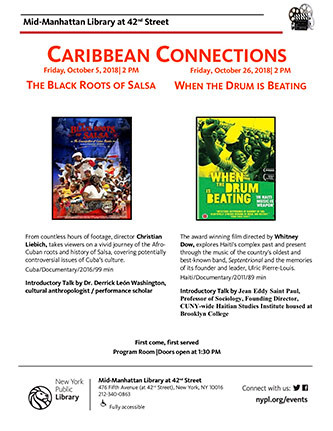 <p>Caribbean Connections poster</p>