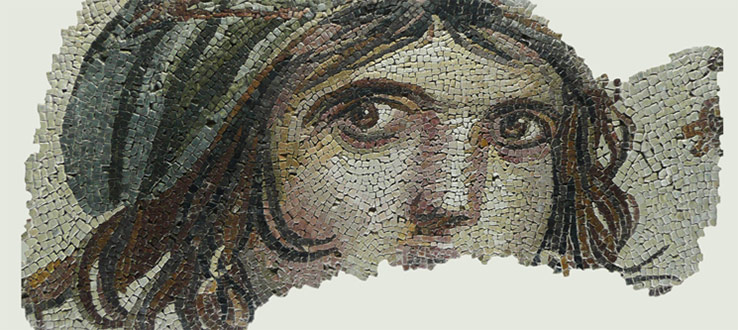Mosaic of Zeugma, from the Gaziantep Museum of Archeology, Gaziantep, Turkey.