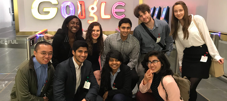 1<p>Students visit Google's offices in New York City as part of our Company Visit Program</p>