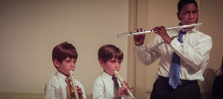 Our Suzuki Flute program involves a dynamic age and instrument range.